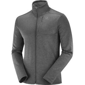 Salomon Transition Full Zip Mid Jacket Men black/heather
